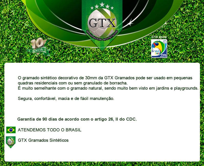 grama sintetica decorativa mercado livre:GTX Gramados Sintéticos